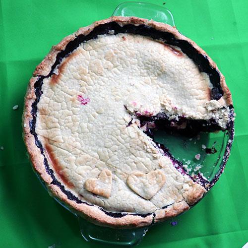 gluten free razzleberry pie