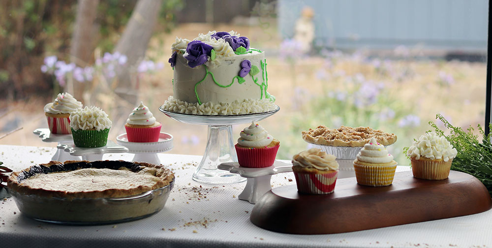 Gluten free cakes. cupcakes and pies