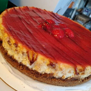 Strawberry Balsamic Cheesecake