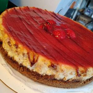 Strawberry Balsamic Cheesecake