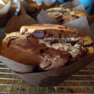Double Chocolate Chip Swirl Muffin